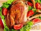 Рецепта Печено агнешко бутче